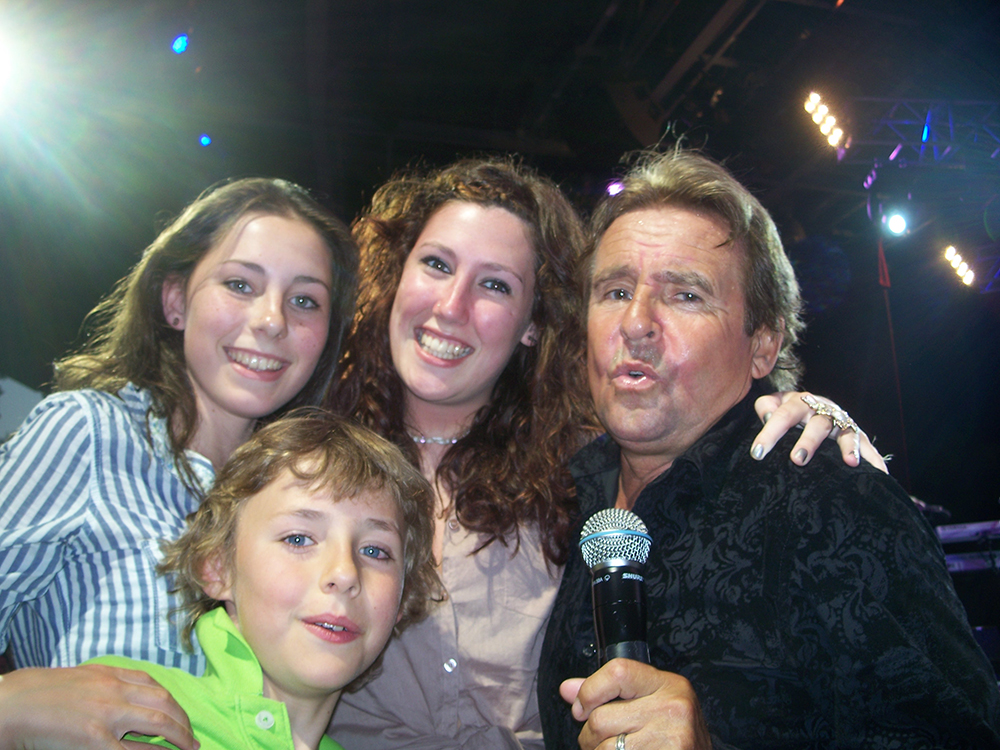 David at Epcot 2011 with 2 of our granddaughters, Melissa and Francesca and Daniel our only grandson